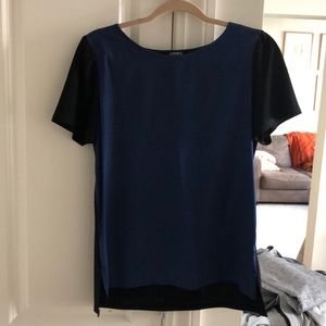 Business casual short sleeve blouse